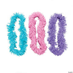 Polyester Soft Fringe Lei Assortment
