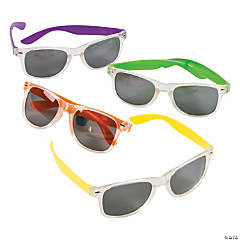 Clear & Neon Sunglasses