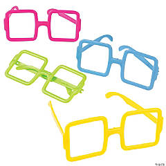 Bright Square Frame Glasses