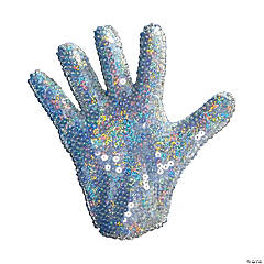 White Sequin Glove