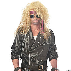 Blonde Heavy Metal Rocker Wig