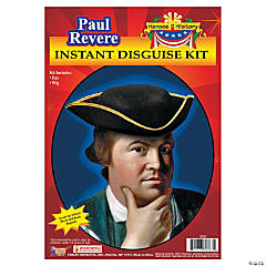 Heroes in History: Paul Revere Costume Wig & Hat