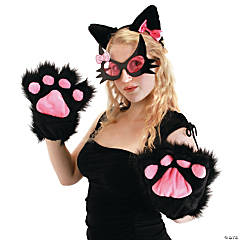 Black Kitty Paw Gloves