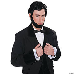 Abraham Lincoln Wig & Beard Costume Set