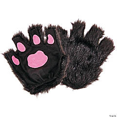 Black Paw Fingerless Gloves