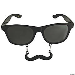 Dark Sun-Stache Glasses with Mustache