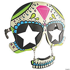 Sun-Stache Sugar Skull Glasses