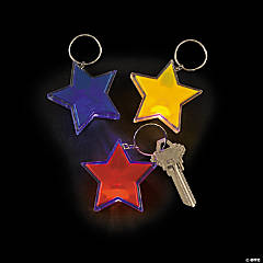 Flashing Star Key Chains