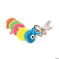 Colorful Caterpillar Key Chains