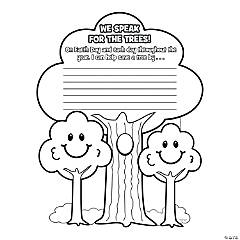 Color Your Own We Speak for the Trees Pledge Posters