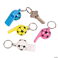 Soccer Ball Whistle Key Chains