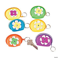 Flower Coin Purse Keychains