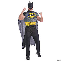 Batman Muscle Shirt Cape for Adults