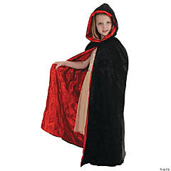 Cape Velvet Black/Red for Kids