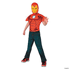 Iron Man Top Costume for Boys