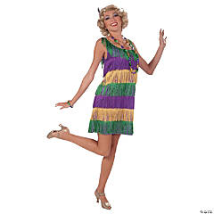 Mardi Gras Flapper Costume for Women