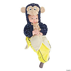 Monkey in a Banana Bunting Costume for Baby