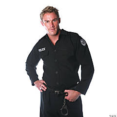 Police Shirt Costume for Men
