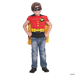 Robin Muscle Shirt Cape Costume for Boys