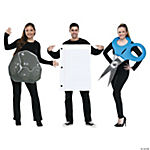 Rock Paper Scissors Group Costume for Adults