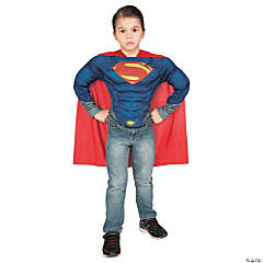Superman Muscle Shirt Costume Set for Boys