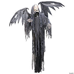 Hanging Grim Reaper with Animated Wings