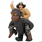 Inflatable Riding Gorilla Costume for Adults