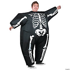 Inflatable Blimpz Black Skeleton Costume for Adults