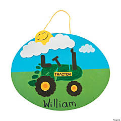 Footprint Tractor Sign Craft Kit