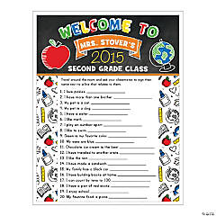 Personalized Ice Breaker Activity Sheets
