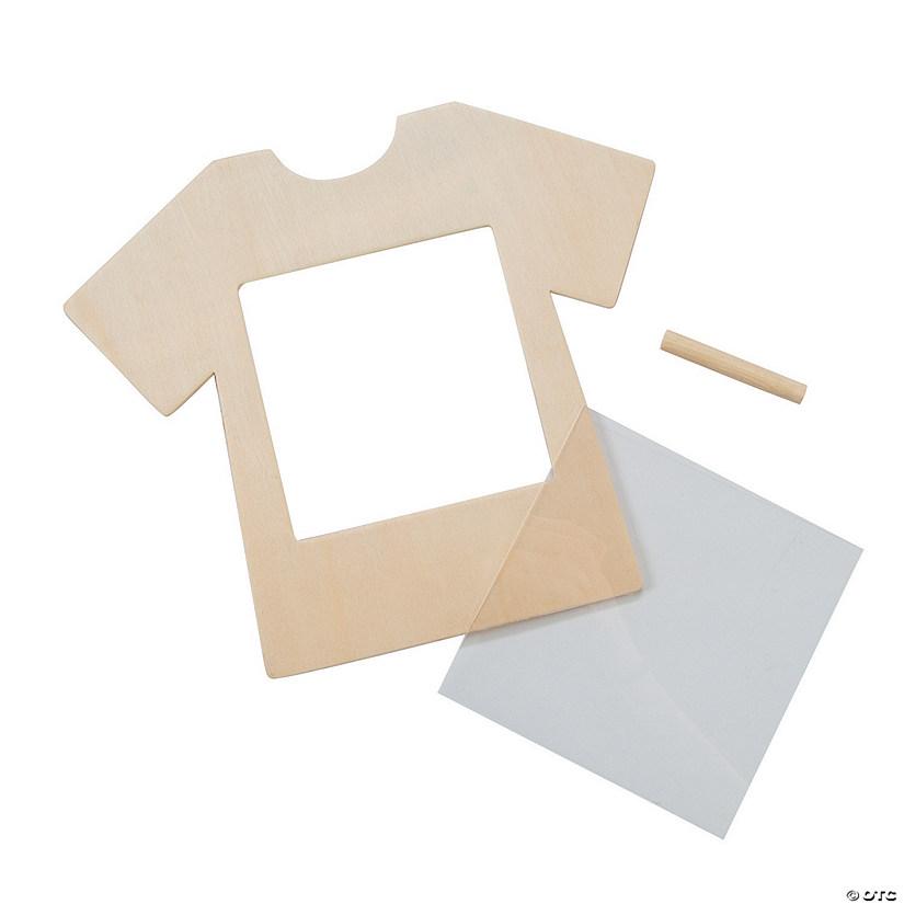 DIY Unfinished Wood T-Shirt Frames