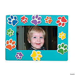 Paw Print Picture Frame Magnet Craft Kit