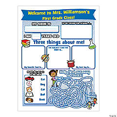 Personalized 1st Day of School Activity Sheets