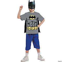 Batman Shirt Mask Cape Costume for Boys