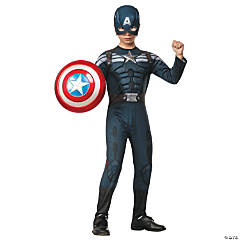 Stealth Captain America Costume for Boys