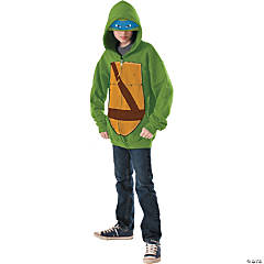 Hoodie Teenage Mutant Ninja Turtle Leonardo Costume for Boys
