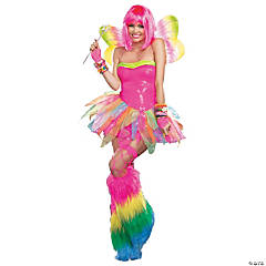 Rainbow Fairy Costume for Adult Women