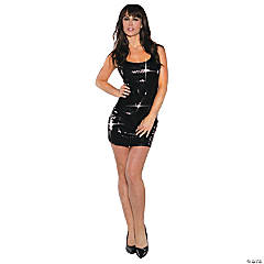Short Black Sequin Dress for Women