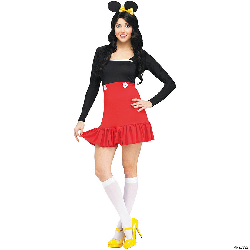 sc 1 st  Oriental Trading & Womenu0027s Mickey Mouse Costume - Medium