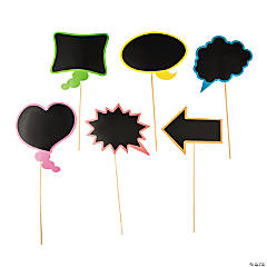 Chalkboard Writable Photo Stick Props
