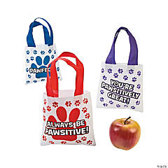 Paw Print Motivational Mini Totes