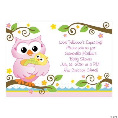 Personalized Owl Baby Shower Invitations