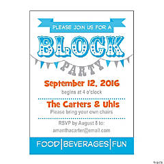 Personalized Block Party Invitations