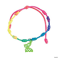 Neon Butterfly Friendship Bracelets