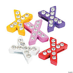 Small Rhinestone Letter Slide Charms - X