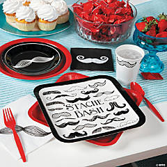 Mustache Baby Shower Party Supplies