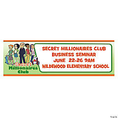 Personalized Medium Secret Millionaires Club™ Banner