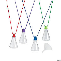 Divine Discoveries Beaker Sand Art Bottle Necklaces