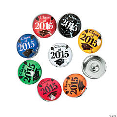 Large 2015 Graduation Snap Beads - 18mm