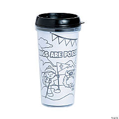 Color Your Own The Highest Power Travel Mugs
